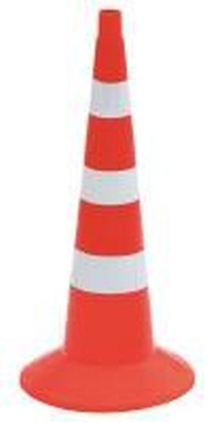 Конус сигнальный оградительный 750мм оранжевый с 3 белыми полосами