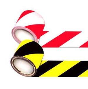Лента сигнальная для ограждений 250 п.м. 75мм 50мкм желто-черная