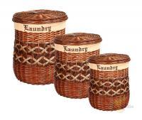 Набор корзин для белья из 3-х шт.46*57/37*47/29*37 см