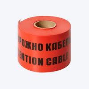 Лента защитно-сигнальная  Связь 40мм, 250м.п., 300 мкм оранжево-черная