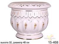 Кашпо для цветов, диаметр 39 см, высота 31 см (цвет белый)