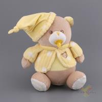 Игрушка мягконабивная медвежонок малыш с соской в желтой кофточке 23 см