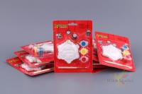 Комплект из 8-ми наб. для раскрашивания 12,8*17,6*2,5 см елочная игрушка, краски, кисть