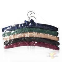 Комплект плечиков подарочных, 5 штук, длина 39 см (сатин, 5 цветов, целлофановая упаковка)