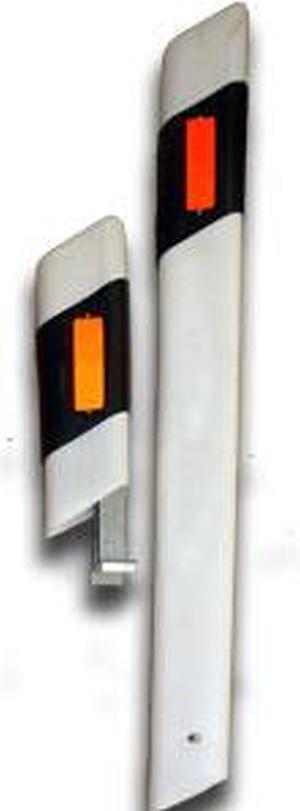 Столбик дорожного ограждения 1500 мм белый