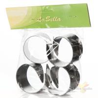 Набор колец для салфеток, 4 штуки, диаметр 50 мм