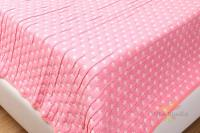 Покрывало двустороннее 100*100 см, хлопок 100%, звездочки, розовое