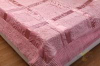 Покрывало 220*240 см, 100% полиэстер, розовое