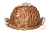 Хлебница с крышкой круглая в комплект входит салфетка диаметр 30 см