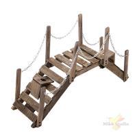 Мост декоративный с цепями 100*28*52 см