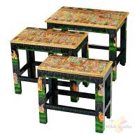 Набор из консольных столиков из 3 шт.19*35*32/24*40*34/30*46*36 см