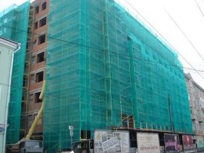 Защитная фасадная сетка для строительных лесов (4х25м) 35г/м2 зеленая