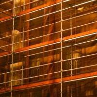 Защитная сетка для строительных лесов (3Х50М) 72Г/М2 оранжевая