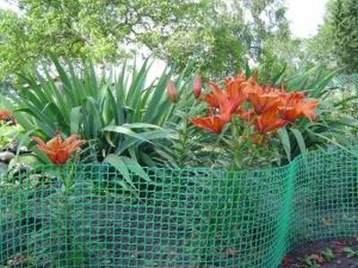 Сетка пластиковая садовая 1,5*10М хаки 40*40