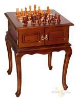 Шахматный стол с деревянными фигурками 52*52*67 см