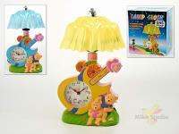 Лампа настольная с часами (с будильником)