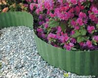 Лента бордюрная садовая 15СМ (9М)хаки гофра