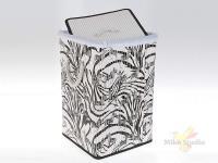 Корзина для белья (складная) 35*35*55 см (бамбук обработанный и окрашенный, текстиль) (упаковочный п