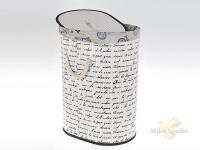 Корзина для белья (складная) 40*30*55 см (бамбук обработанный и окрашенный, текстиль) (упаковочный п