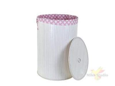 Корзина для белья, высота 60 см, диаметр 44 см