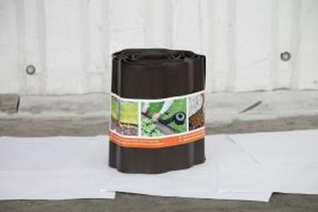 Лента бордюрная садовая 20СМ, 9М коричневая