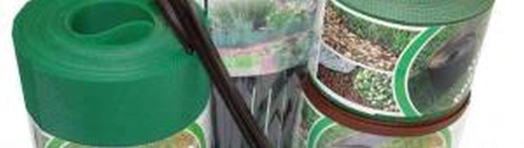 Декоративный пластиковый бордюр 15СМ, 10М хаки