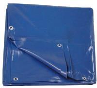 Тент с люверсами ПВХ 8*10м плотность 600г/м2 Двухсторонний (синий)