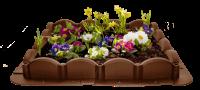 Декоративный пластиковый бордюр для клумб 2,56М волна коричневый