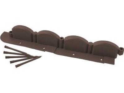 Пластиковое декоративное ограждение 2,56М коричневое