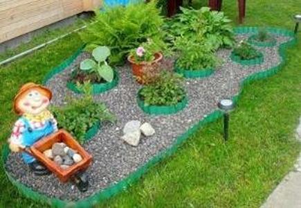 Лента бордюрная садовая 10М коричневая