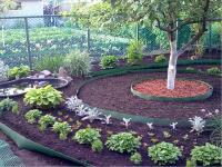 Лента бордюрная садовая для грядок 10М хаки