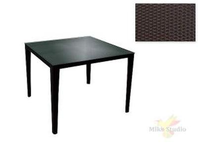 Садовая мебель: стол (80*80*73см столешница стекло 5мм.) (комплектуется: 7430016, 7430041, 7430042)