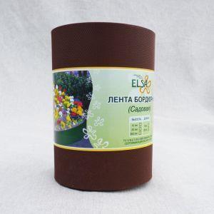 Лента бордюрная садовая для грядок 30СМ, 10М коричневая
