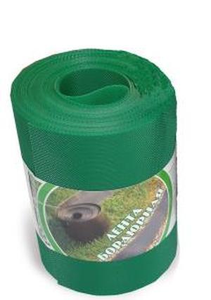 Лента бордюрная пластиковая 30СМ, 10М хаки