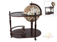 Глобус-бар напольный со столешницей (на колесиках) d=42см (80,5*51*93см) (глобус-бумага со спец. вод