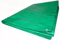 Тент Тарпаулин 6х8м 120г/м.кв Усиленный (зеленый)