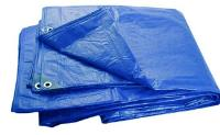 Тент Тарпаулин 6х10м плотность180г/м.кв (синий)