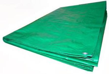 Тент Тарпаулин 5х6м 120г/м.кв Усиленный (зеленый)