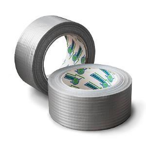 Армированная клейкая лента50ммх25м серебристая