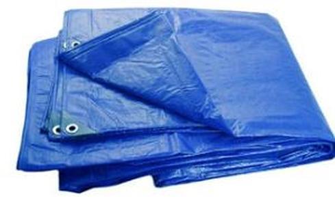 Тент Тарпаулин 4х8м плотность 180 г/м.кв (синий)