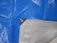 Тент  строительный Тарпаулин 4Х8М 180Г/М.КВ синий