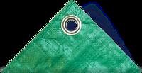 Тент строительный Тарпаулин 6Х10М 120Г/М.КВ зел-серебр