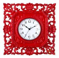 Часы настенные красные 37*37 см.