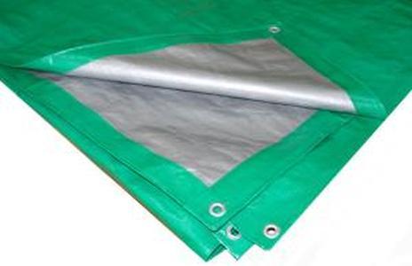 Усиленный Тент Тарпаулин 2х3м плотность120г/м.кв (зеленый)
