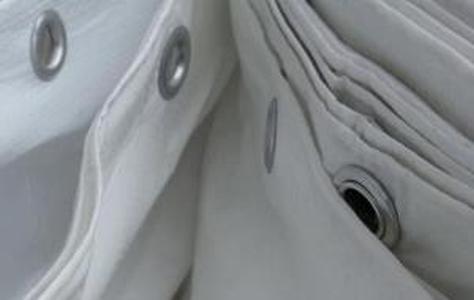 Защитный тент Тарпаулин для фасадов2,6Х50М 120Г/М.КВ белый