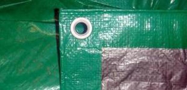 Тент строительный Тарпаулин 10Х20М 120Г/М.КВ зел-серебр