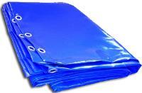 Тент на лодку ПВХ с люверсами3*6М 650Г/м2 синий