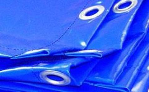Полог ПВХс люверсами 6*8М 600Г/М16 синий