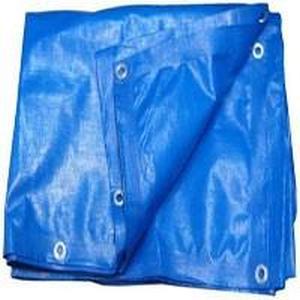 Тент Тарпаулин 10х20м плотность 180 г/м.кв (синий)