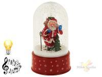 Украшение новогоднее настольное (музыкальное с подсветкой, с эффектом падающего снега)